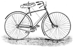 a drawing of a bicycle