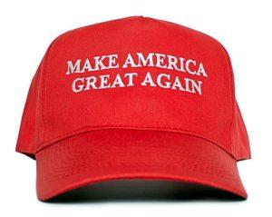 "A ""Make America great again"" hat."