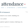 The Origins of Words: Attendance